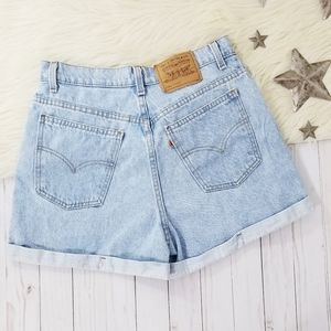 Vintage 90s Levis 954 shorts high waisted cuffed